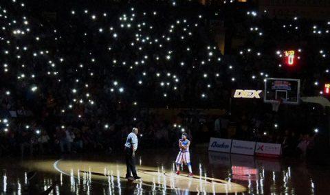 The legendary basketball squad lit up the Bridgestone Arena.