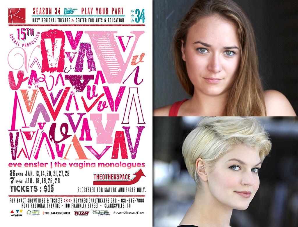 Emily Rourke (top) and Leigh Martha Klinger (bottom) star in