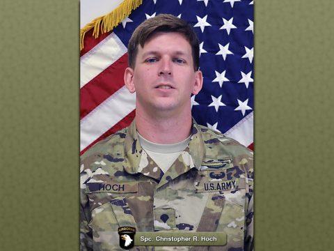 101st Spc. Christopher R. Hoch