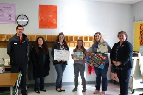 Second Place winner Gracey Hoilman, 5th grade student at Moore Magnet, received $50.00 and was awarded a certificate, art kit and a Subway party for her art class.