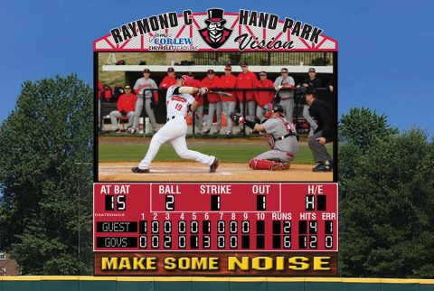 New Video Score Board coming to Austin Peay's Raymond C. Hand Field this year courtesy of James Corlew Chevrolet Cadillac dealership. (Artists Concept)