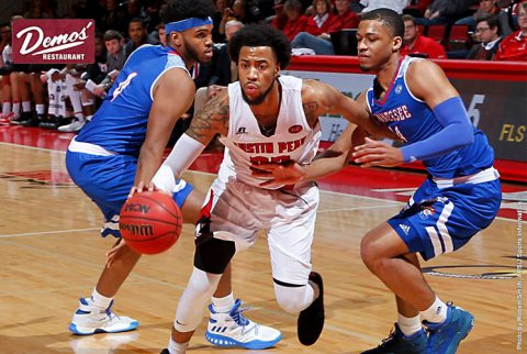 Austin Peay Men's Basketball drops game to Tennessee State at the Dunn Center, 70-66. (APSU Sports Information)