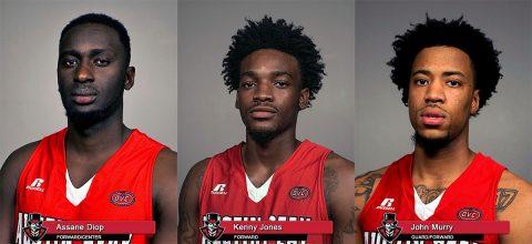 APSU Men's Basketball seniors Assane Diop, Kenny Jones and John Murry