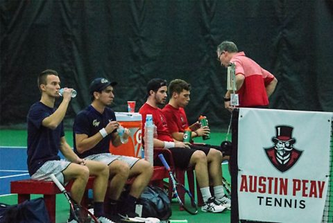 Austin Peay Men's Tennis loses home match to Lipscomb, Saturday. (APSU Sports Information)