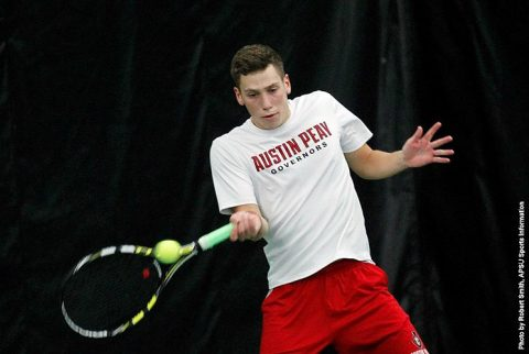 Austin Peay Men's Tennis gets 4-3 win over Lindsey Wilson. (APSU Sports Information)