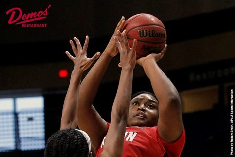 Austin Peay's Tearra Banks pours in 31 and naps 9 rebounds in loss to Murray State Saturday. (APSU Sports Information)