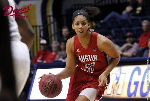 Austin Peay Women's Basketball sophomore guard Keisha Gregory scored 16 points at SIU Edwardsville Wednesday night. (APSU Sports Information)