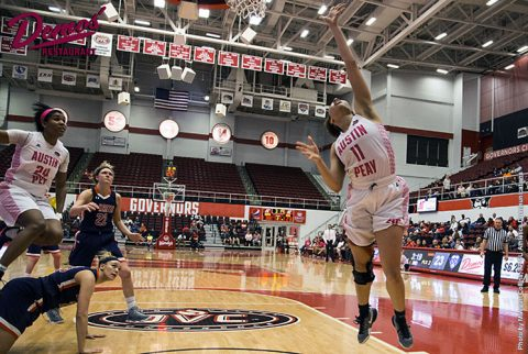 Austin Peay Women's Basketball beats UT Martin Skyhawks 85-60 at the Dunn Center Wednesday night. (APSU Sports Information)