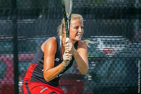 Austin Peay Women's Tennis gets 4-3 win at Evansville Friday night. (APSU Sports Information)