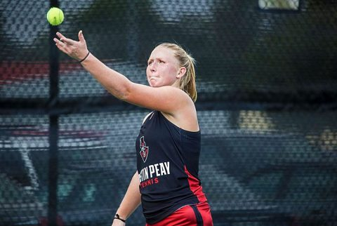 Austin Peay Women's Tennis loses at Southern Illinois Friday, 5-2. (APSU Sports Information)