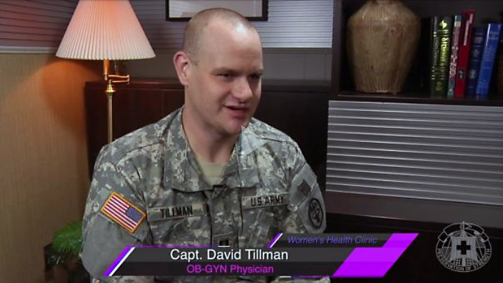BACH OB-GYN physician Capt. David Tillman