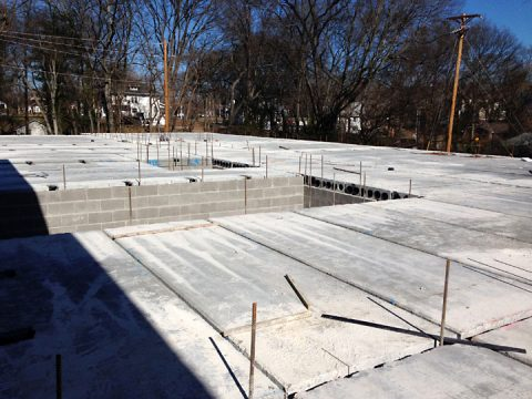 The precast subfloor was installed in late January for the 14,600 square foot addition to Ajax Turner Senior Center. The $2.7 million project is expected to be completed in July.