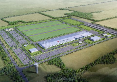 Conceptual layout of the LG facility coming to the Corporate Business Park North.