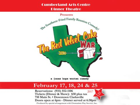 "Cumberland Arts Centre Dinner Theatre to present comedy ""Red Velvet Cake War"" in February"