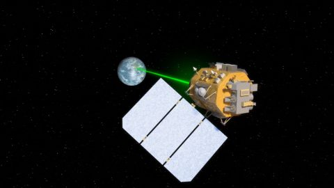 Several upcoming NASA missions will use lasers to increase data transmission from space. (NASA's Goddard Space Flight Center/Amber Jacobson, producer)