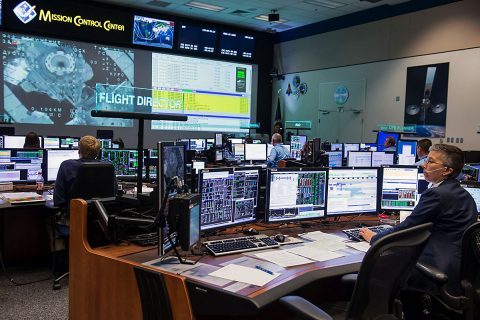 Expedition 47 flight controllers in the Johnson Space Center's Mission Control watch over the undocking of a spacecraft from the International Space Station. Teamwork plays a vital role in successful missions in space. (NASA)