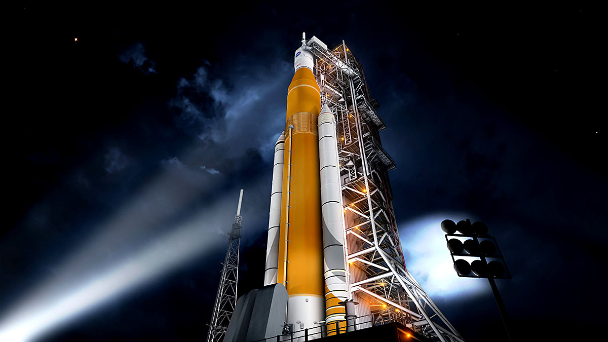 NASA Continues Progress to Send Humans to Deep Space. Pictured is NASA's Space Launch System (SLS) rocket. (NASA)
