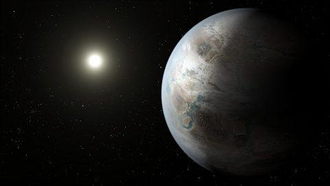 Artist's illustration of an exoplanet. (NASA)