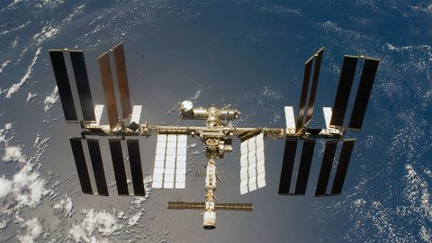 The International Space Station is becoming an increasingly busy platform for studying our home planet. (NASA)