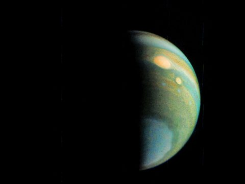 This false color view of Jupiter's polar haze was created by citizen scientist Gerald Eichstädt using data from the JunoCam instrument on NASA's Juno spacecraft. (NASA/JPL-Caltech/SwRI/MSSS/Eric Jorgensen)