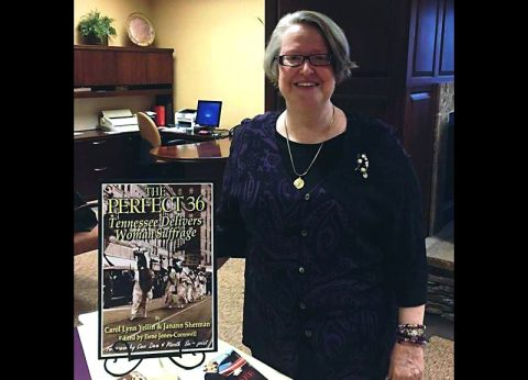 Women's suffrage speaker Paula F. Casey.