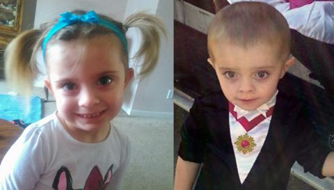 A Tennessee Endangered Child Alert has been issued for Lillyanna Beneke (L) and Ryder Beneke (R).