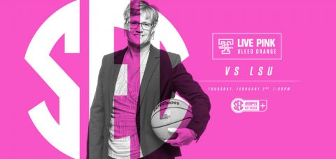 Tennessee Lady Vols to host annual Live Pink, Bleed Orange during Wednesday's game against LSU. (Tennessee Athletics Department)