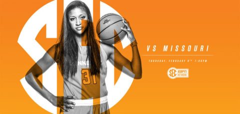 Tennessee Women's Basketball takes on Missouri Tigers in an SEC showdown at Thompson-Boling Area Thursday at 6:00pm CT. (Tennessee Athletics Department)
