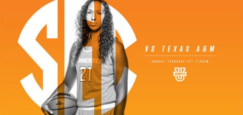Tennessee Lady Vols play Texas A&M Sunday at Thompson-Boling Arena. Tip off is at 1:00pm CT. (Tennessee Athletics Department)