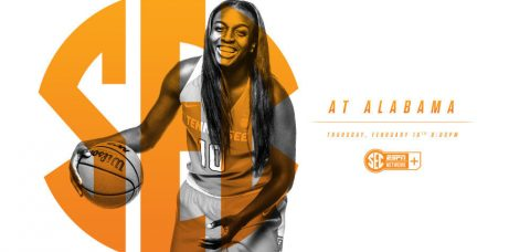Tennessee Women's Basketball takes on Alabama Thursday night at the Coleman Coliseum. (Tennessee Athletics Department)