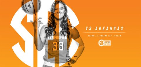 Tennessee Women's Basketball faces Arkansas Razoerbacks at Thompson-Boling Arena Sunday at 2:00pm CT. (Tennessee Athletics Department)