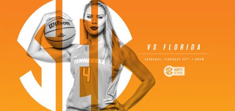 Tennessee Lady Vols face Florida Gators Thursday night at Thompson-Boling Arena. Tip off is at 6:00pm CT. (Tennessee Athletics Department)