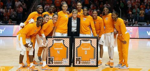 Thursday night the Tennessee Lady Vols held Senior Night for Jordan Reynolds and Schaquilla Nunn. (Tennessee Athletics Department)