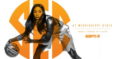 Sunday's Tennessee Lady Vols vs. #3/2 Mississippi State game is slated to tip off at 4:00pm CT at Humphrey Coliseum. (Tennessee Athletics Department)