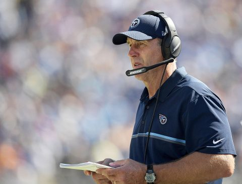 Tennessee Titans and head coach Mike Mularkey hold the 2nd and 18th pick in the 2017 NFL Draft. (Kirby Lee-USA TODAY Sports)