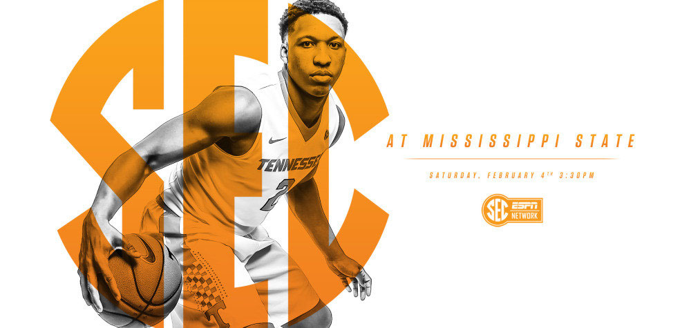 Tennessee Vols Saturday's tilt in Starkville against Mississippi State Bulldogs is set for 2:30pm CT on SEC Network. (Tennessee Athletic Department)