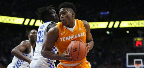Admiral Schofield paces Tennessee Vols with 17 points; Kentucky Wildcats thrive on hot 3-point shooting in first half. (Tennessee Athletics Department)
