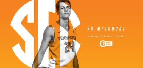 Tennessee Men's Basketball's Saturday tip-off against Missouri at Thompson-Boling Arena is slated for 12:00pm CT on SEC Network. (Tennessee Athletic Department)