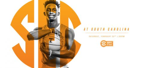 Tennessee Vols game against South Carolina tip-offs Saturday at Colonial Life Arena at 12:00pm CT on SEC Network. (Tennessee Athletics Department)