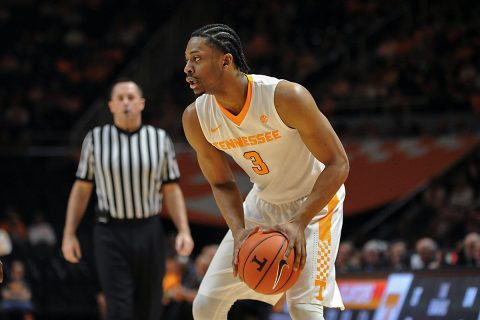 Tennessee Volunteers guard Robert Hubbs III (3) during the first half against the Missouri Tigers at Thompson-Boling Arena. (Randy Sartin-USA TODAY Sports)
