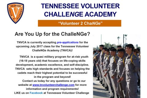 Tennessee Volunteer ChalleNGe Academy Flyer