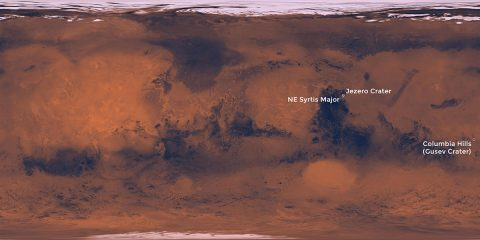 Three potential landing sites for NASA's next Mars rover. (NASA)