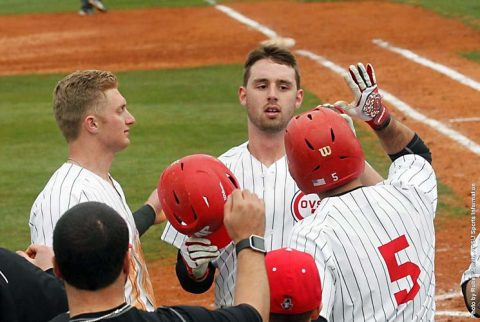 Austin Peay Baseball loses to Tennessee Tech 14-3, 10-8 in doubleheader action Friday at Raymond C. Hand Park. (APSU Sports Information)