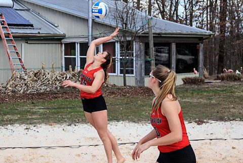 Austin Peay Beach Volleyball wins it's first game Sunday during loss to UAB. (APSU Sports Information)