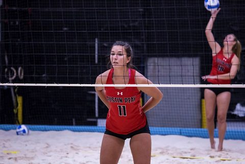 Austin Peay Beach Volleyball gets 4-1 home win over Carson-Newman Friday on day one of Governors Beach Duals. (APSU Sports Information)