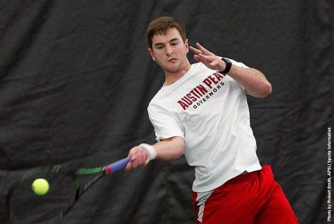 Austin Peay Men's Tennis loses 6-1 at Belmont. (APSU Sports Information)
