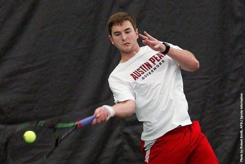 Austin Peay Men's Tennis loses 6-1 at Belmont. (APSU Sports Information)