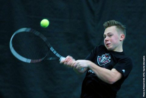 APSU Men's Tennis begins 2017 OVC Season with convincing win over Tennessee State, Friday. (APSU Sports Information)