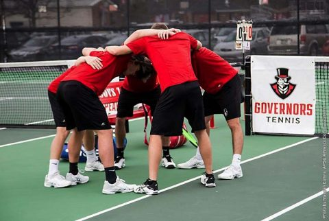 Austin Peay Men's Tennis falls at home 7-0 to Tennessee Tech, Friday. (APSU Sports Information)