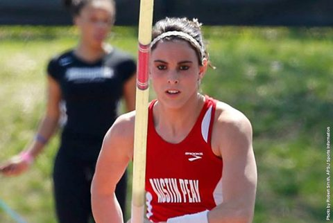 Austin Peay's Savannah Amato places sixth in the Pole Vault at the Florida Relays, Friday. (APSU Sports Information)